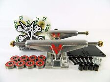 Venture 5.25 Hi Polished Skateboard Trucks + Bones 100s 52mm White Wheels