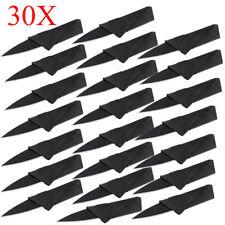30PCS Folding Steel Wallet Credit Card Tool Black Blade Pocket Micro Knife USA