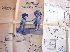 Patron ancien poupée Marie-Françoise M et T 7/72 N°8159