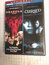 Wes Craven DOUBLE FEATURE *Dracula 2000 & Cursed* DVD WIDESCREEN Pre-Owned