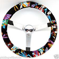 Hand Made Steering Wheel Covers fiesta de los muertos day of the dead skulls