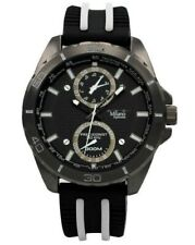 Men's Sports Watch Milano MC46133, Casual Watch Black and White Silicone Band