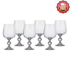 Bohemia Crystal (176.008) CLAUDIA Red & White Wine Glass Goblet 340ml 6pcs