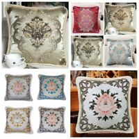 Brocade Vintage European Jacquard Throw PILLOW COVER Luxury Cushion Case 18x18""