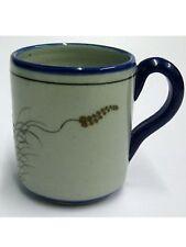 Mexican Stoneware - Blue Rim Butterfly Coffee mug
