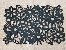 Balck felt PLACEMATS - thick modern floral design -  cheap price high quality
