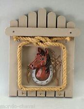 PORTE-CLEFS MURAL, tête de cheval, 3 crochets, couleur taupe