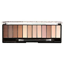 Technic Mega Eyeshadow Palette, 12 Shade Matte Nude Nudes Natural Sultry Smokey