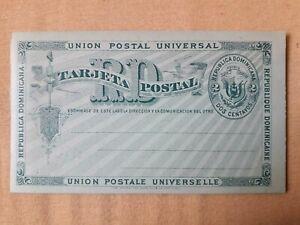REP DOMINICANA ca.1900 Postal card, 2 Centavos stationery, stationary  20