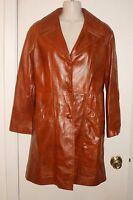 VINTAGE Leather Jacket  ADLER Leather Mfg. Co. ~ Calif. Brown Sz 10 *XLNT