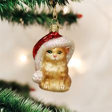 OLD WORLD CHRISTMAS SANTA'S KITTEN CHRISTMAS ORNAMENT 12366