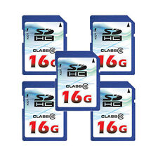 Lot of 5 OEM 16GB 16G Class 10 SD SDHC Flash Memory Card HD Video