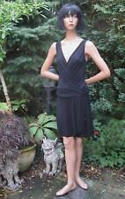 Abendkleid Kleid Sisley Gr.36 schwarz Made in Italy Edellabel  gerafft sexy