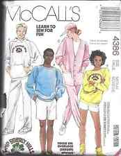 VINTAGE McCalls Sewing Pattern Top Cardigan Pants Shorts Med M 4386