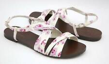Cole Haan CARA Strappy Sandal Flat Shoe White/Purple 7.5 New $255