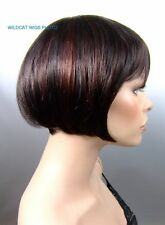 Quality Joann Wig. Tapered Bob. Brown/Auburn 2H33