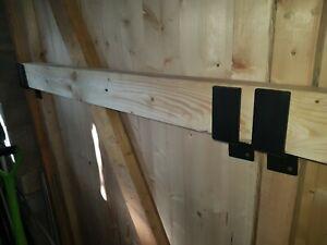 Door security bar brackets x2