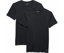 Under Armour Hombre Cuello Redondo Camisas Pack 2 MEDIANA NEGRAS performance