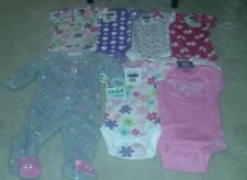 Lot of Baby Girl Clothing 0-3 Months, 3-6 Months, 3-9 Months Sleeper and Onesies