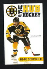 Patrice Bergeron--Boston Bruins--2007-08 Pocket Schedule--TD Banknorth