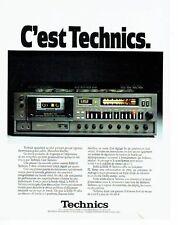 PUBLICITE ADVERTISING 027  1979  Technics magnétophone platine cassette