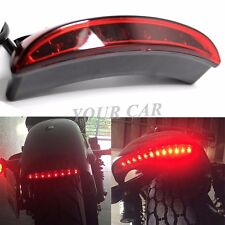 12V BRAKE TAIL LIGHT LED LICENSE PLATE MOTORCYCLE FOR CHOPPER CAFE RACER CLUBMAN