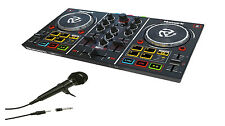Numark Party Mix DJ Controller w/ Built-in Lightshow & Software + Samson Mic