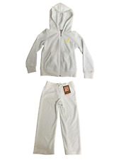 Juicy Couture Childrens Kids Girls White Zip Up Smart Casual Designer Tracksuit
