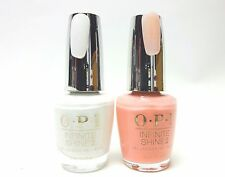 OPI Nail Polish INFINITE SHINE Passion + Alpine Snow ISL H19 + ISL L00 ~2ct~
