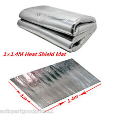 1m*1.4m Car Turbo Exhaust Muffler Hood Heat Shield Cover Aluminised Barrier Mat