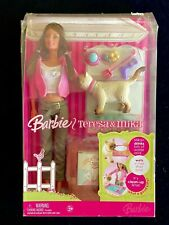 Barbie Doll TERESA & Pet MIKA Cat Talks Drinks Wets NIB NRFB SEALED NEW VHTF