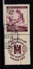 Germany Catalog Recognized PLATE FLAW Bohemia Moravia Nurse 1941 Dots Under 6m
