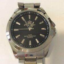 premier designs men's stainless steel quartz watch new battery