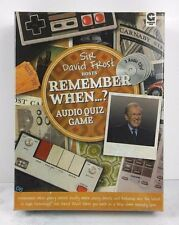 Remember When? Audio Quiz Game with Sir David Frost [CD] New Nostalgic Gift