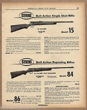 1958 Savage Model 15 Single Shot & 84 Repeating Boat Action .22 Rifle Ad