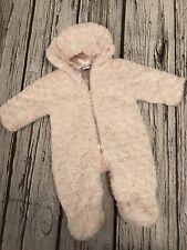 3-6 Months Pink Faux Fur Junior J Pram Suit Snowsuit Looks Unworn Jasper Conran