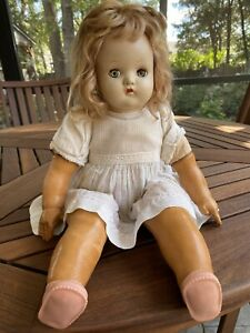 ANTIQUE 1920s MADAME ALEXANDER SLEEPY EYE BABY DOLL RUBBER COMPOSITION SOFT BODY