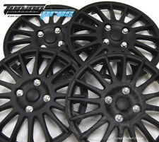 """Snap-On Hubcap 15"""" Inch Wheel Rim Skin Cover 4pcs Matte Black - 15 Inches #611"""