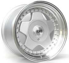 16X8'' ESM 009R WHEELS 5X100 +20 57.1MM SILVER RIM FITS VOLKSWAGEN AND DODGE