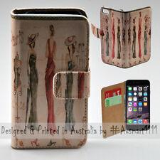 """Wallet Phone Case Flip Cover for iPhone 6 6S 4.7"""" - Paris Vintage Fashion"""