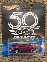 2018 Hot Wheels 50th Favorites '55 Chevy Bel Air Gasser Nice Card! VHTF