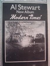 AL STEWART Modern Times 1975 UK Press ADVERT 10x7 inches