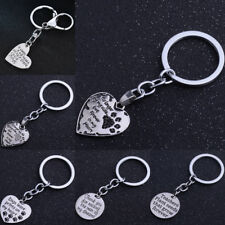 Metal Keyring Dog Paw Print Pet Love Heart Pendant Keychain Key Ring Charm Gift