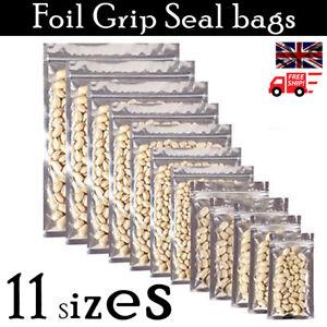 High Quality Mylar Aluminium Press Seal Resealable Heat Seal Zip-Lock Food Pouch