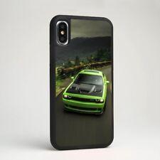 Challenger SRT Verde automóviles de carrera goma funda para iPhone Samsung Galaxy