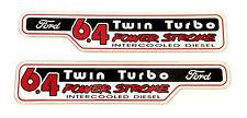 6.4 POWERSTROKE Twin Turbo EMBLEM (PAIR)  SATIN