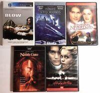 Lot of 5 DVD Movies : Johnny Depp : Blow, Edward Scissorhands, Sleepy Hollow +2
