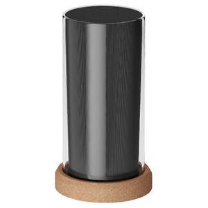 13x24 cm Knife Block Black Glass Cork ABS Plastic