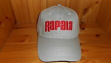 Rapala Embroidered 3D Logo Mesh Back Fishing Trucker Hat - Khaki & Red Cap NEW!