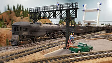 Realistic HO Scale Laser Cut 1 or 2 Track Signal Gantry (Asembled and Painted)
